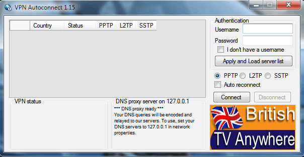 VPN Autoconnect 1.15 empty user and pass