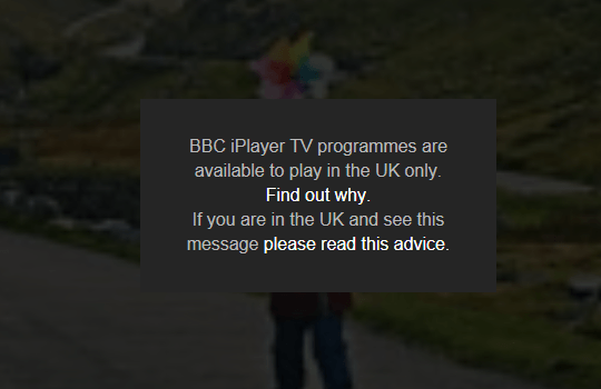 BBC programmes are UK only